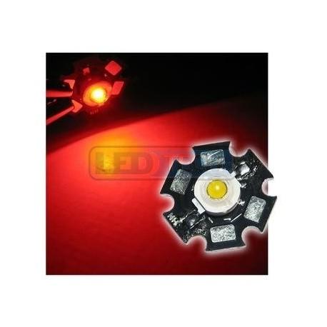 LED dioda 3W výkonová ČERVENÁ 625nm