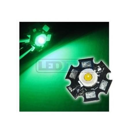 LED dioda 3W výkonová ZELENÁ 525nm