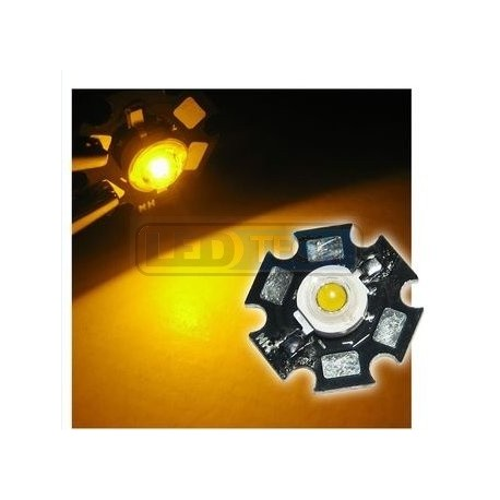 LED dioda 3W výkonová ŽLUTÁ 595nm